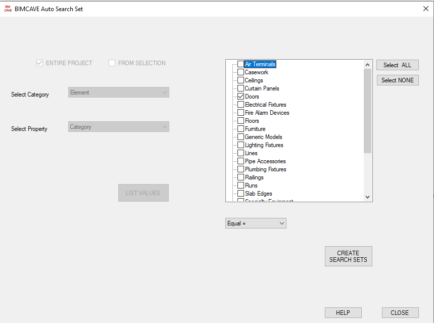 BIMCave Search Sets